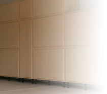 Diy metal overhead storage racks by slide lok of austin garage cabinet solutioingenieria Images